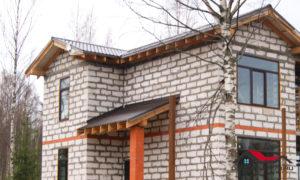 Дом из газобетона без отделки фасадов