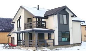 Современные проекты каркасных домов