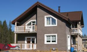 Современный проект кирпичного дома