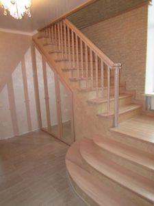 Монтаж лестниц из бука