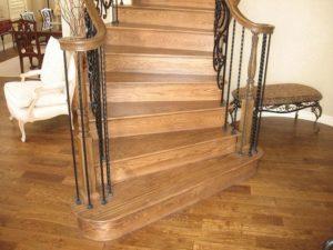 Монтаж лестницы из дуба